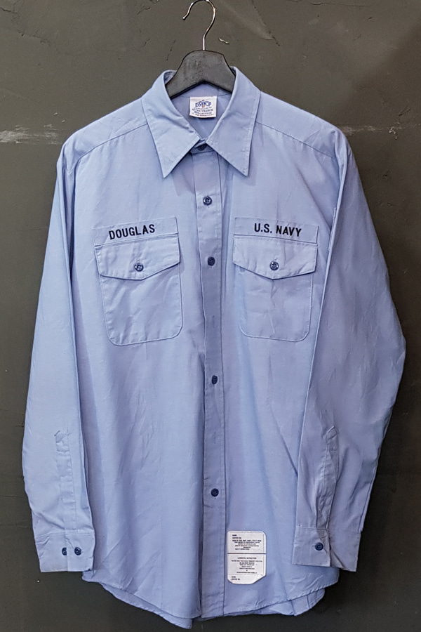 90's US Navy - Dress Shirt - Chambray - DSCP (XL)