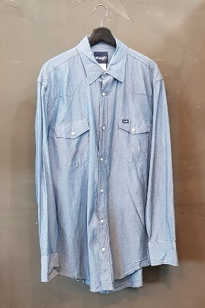 80-90's Wrangler-Chambray (XL)