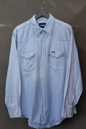 80's-90's Wrangler - Chambray - Western (L)