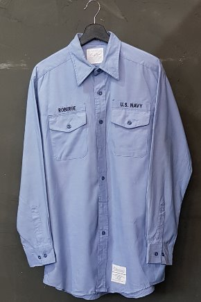 90's US Navy - Official Uniform - Chambray - Creighton INC. (XL)